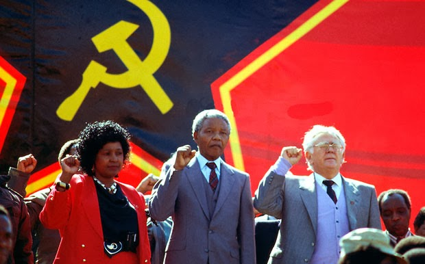 http://www.sunray22b.net/images/Winnie_Mandela_Nelson_Mandela_Yossel_Joe_Slovo_hammer_and_sickle_red_star_flag_banner.jpg